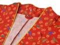 女性総柄作務衣 とうがらし(トウガラシ)衿部分