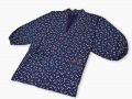 女性総柄作務衣 絣桜(かすりざくら)紺上着2