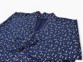 女性総柄作務衣 絣桜(かすりざくら)紺上着3
