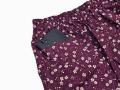 女性総柄作務衣 絣桜(かすりさくら)紫(パープル)ズボンポケット