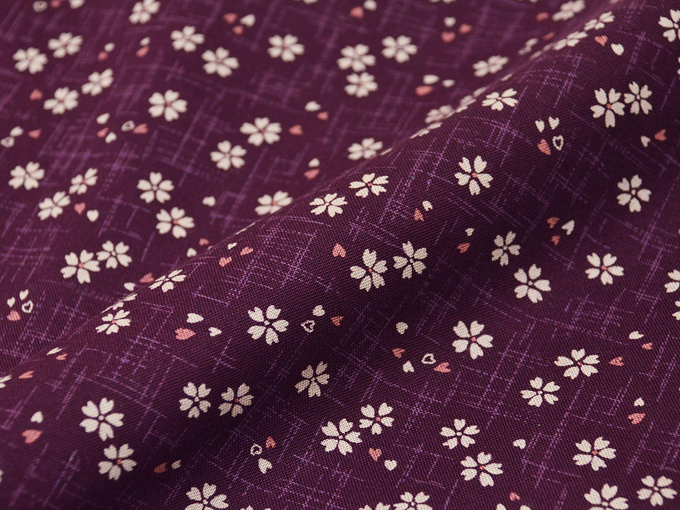 女性総柄作務衣 NO.27 絣桜(紫)