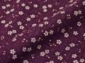 女性総柄作務衣 絣桜(かすりさくら)紫(パープル)生地拡大