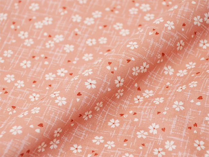 女性総柄作務衣 NO.27 絣桜(ピンク)
