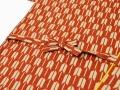 女性総柄作務衣 矢絣(やがすり)/矢羽根(やばね)紐部分