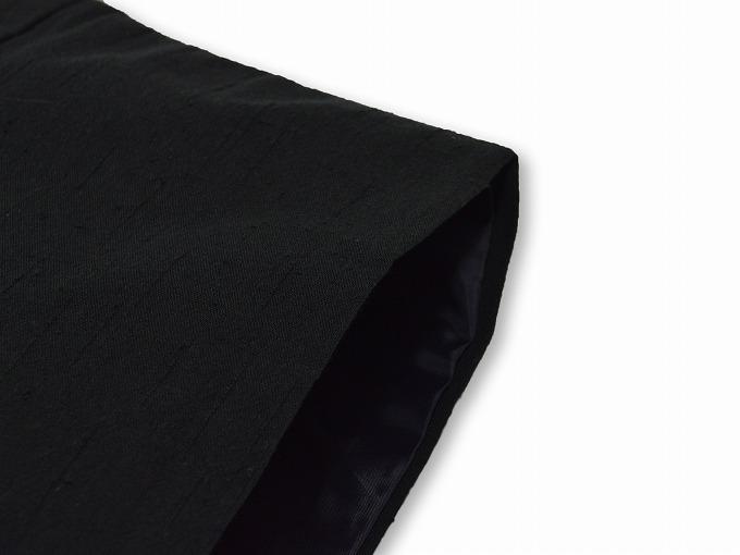 たてスラブ作務衣羽織 黒(ブラック) 肩部分