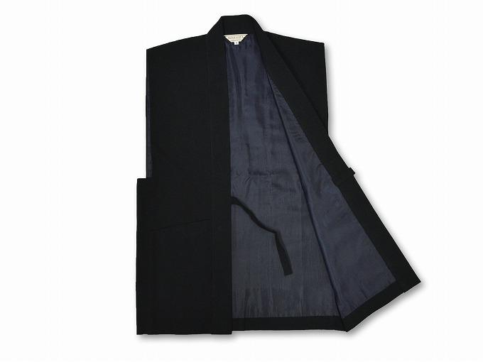 たてスラブ作務衣羽織 見開き
