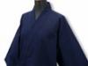 日本製たてスラブ作務衣 濃紺