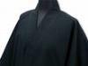 日本製たてスラブ作務衣 黒