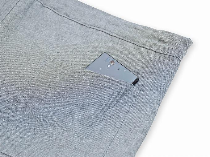 キルト縞柄作務衣