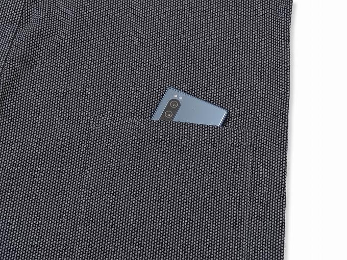 刺子織ジャケット 上着ポケット部分