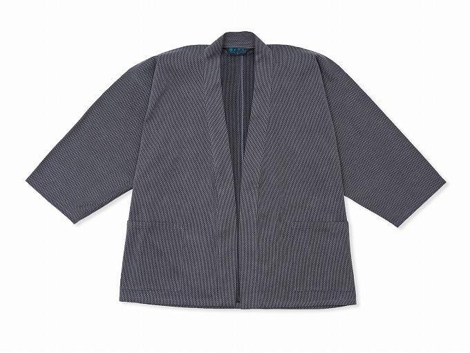 刺子織ジャケット グレー