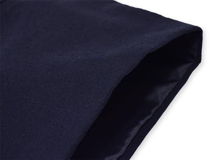 地厚生地作務衣用 羽織 IKISUGATA 濃紺 肩部分