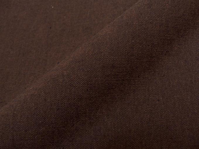 地厚生地作務衣用 羽織 IKISUGATA 茶(ブラウン) 生地拡大