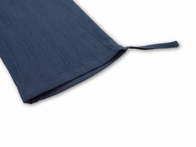 綿麻楊柳作務衣 ズボン裾