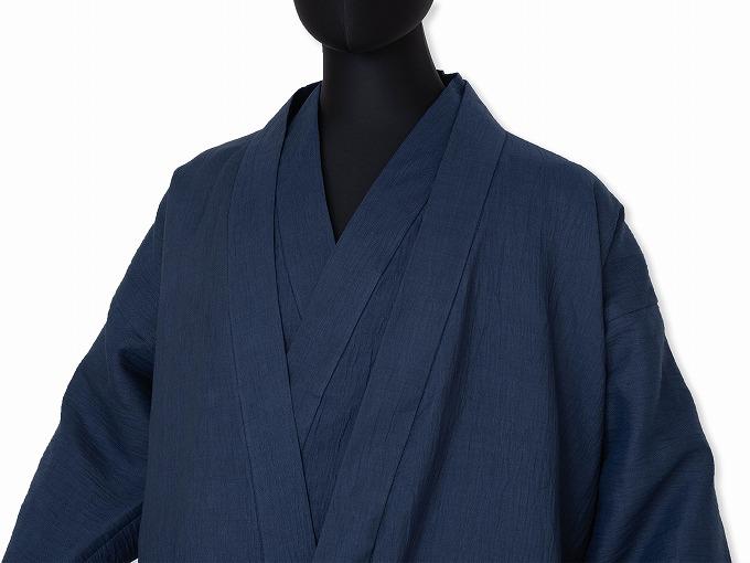 近江ちぢみ本麻ジャケット 作務衣との合わせイメージ