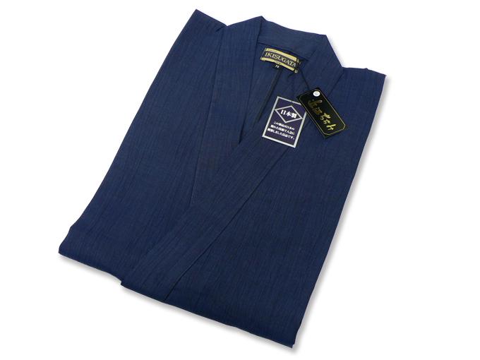 近江ちぢみ本麻楊柳作務衣(日本製) 濃紺 畳み