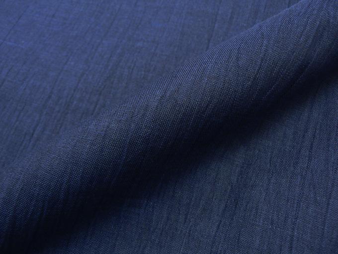 近江ちぢみ本麻楊柳作務衣(日本製) 濃紺