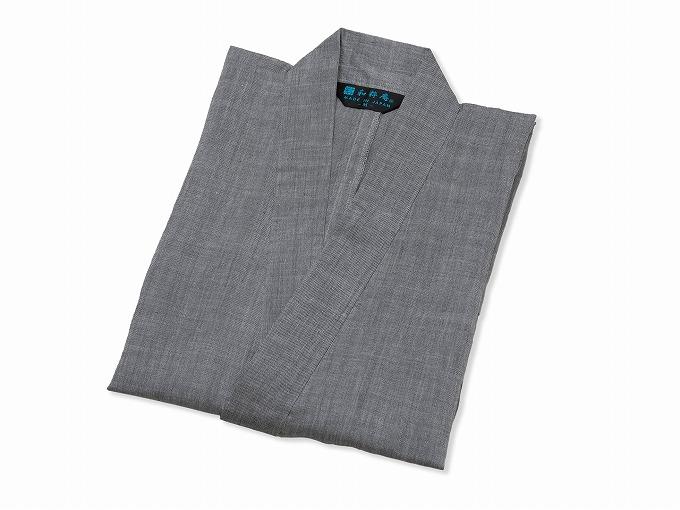 近江ちぢみ本麻作務衣(日本製) グレー/ 畳み
