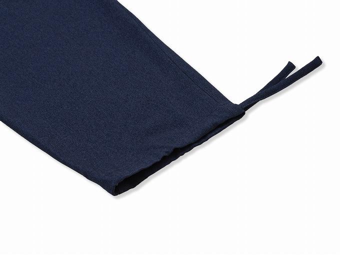 ウールライク作務衣 ズボン裾紐部分