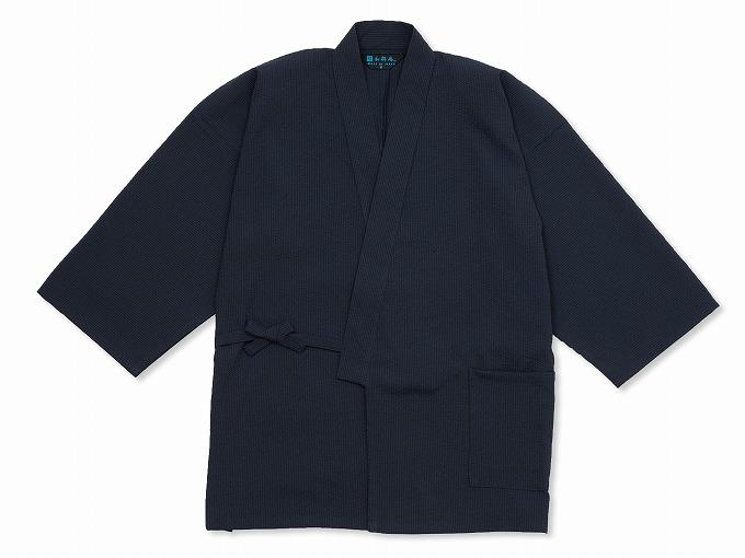 クールマックス・サッカー作務衣 日本製