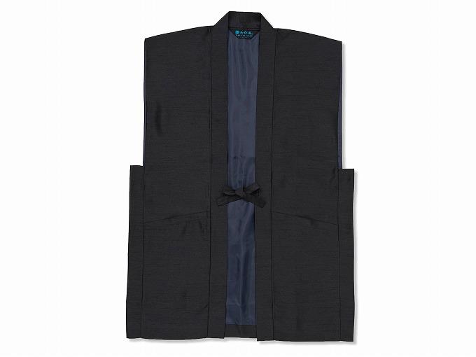 シルクライク羽織 黒