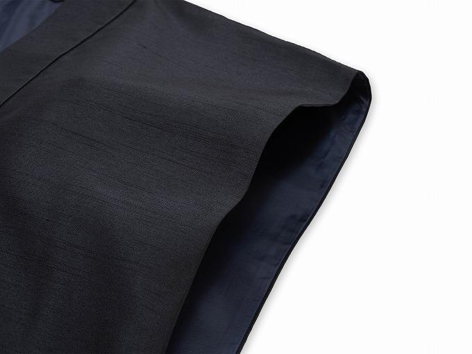 シルクライク羽織 筒袖