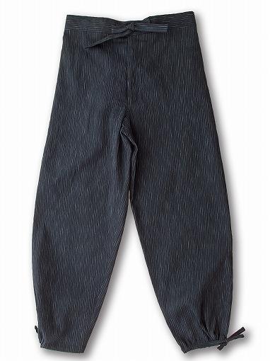近江ちぢみ絣織作務衣