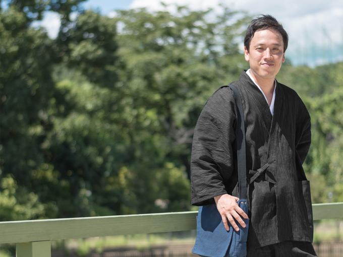 近江ちぢみ絣織作務衣 イメージ写真