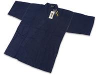 本麻楊柳甚平(日本製) 濃紺 上着