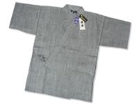 本麻楊柳甚平(日本製) グレー 上着