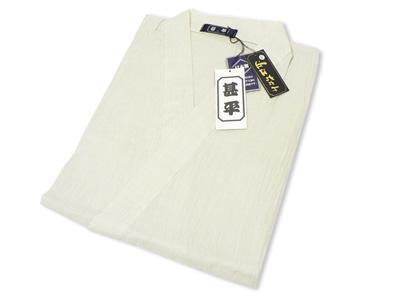 本麻楊柳甚平(日本製) 薄ベージュ 畳み
