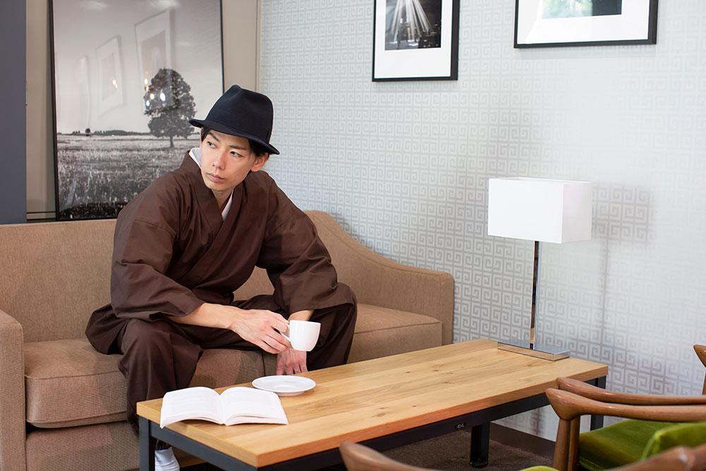 武州コーヒー染作務衣