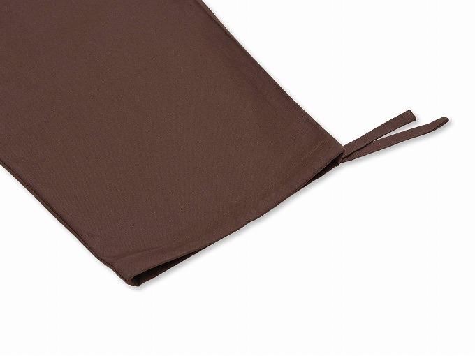 武州コーヒー染作務衣 ズボン裾紐部分