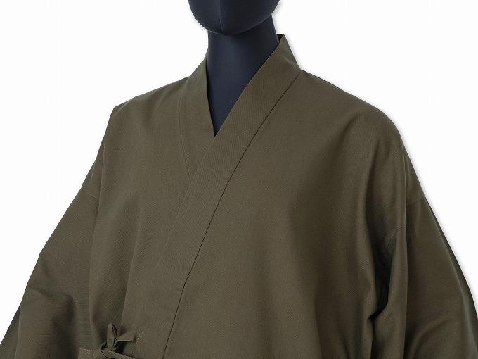武州くちなし染作務衣 着用イメージ