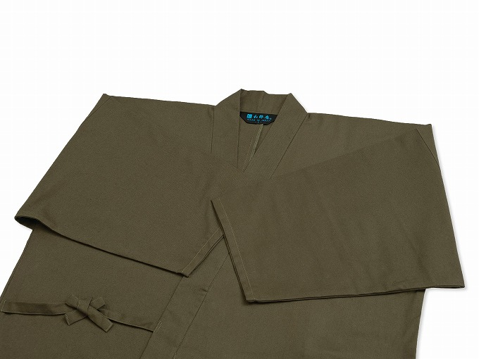 武州くちなし染作務衣 上着袖
