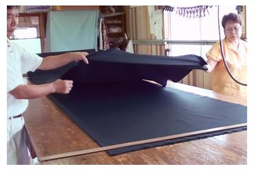 「のし」 作務衣の製作工程