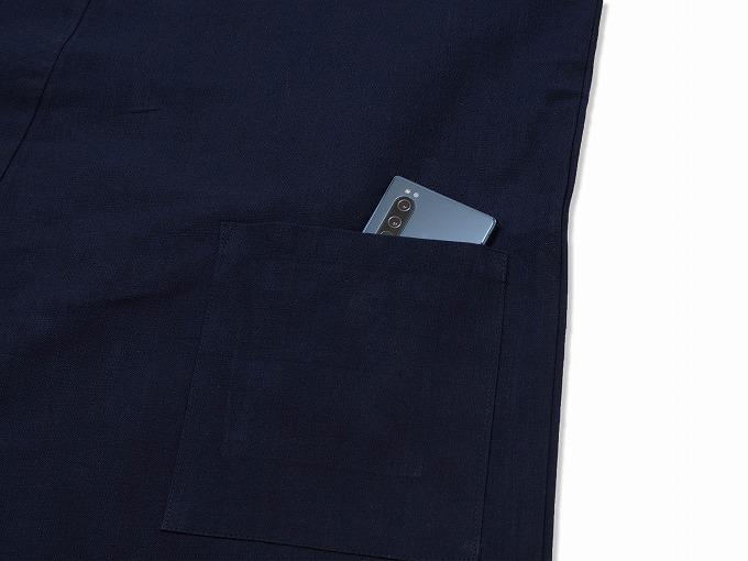 遠州本藍染作務衣 日本製 紐部分