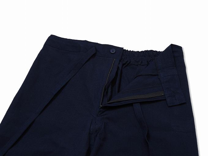 遠州本藍染作務衣 日本製 生地拡大