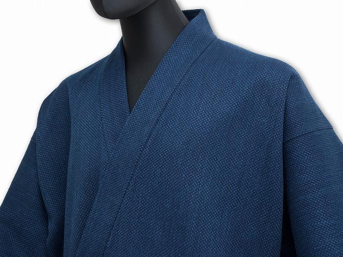 【日本製】 本藍染刺子織作務衣 【和粋庵】
