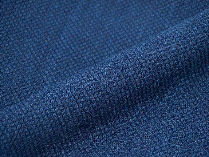 【日本製】 本藍染刺子織作務衣 【和粋庵】 ゴム裾部分
