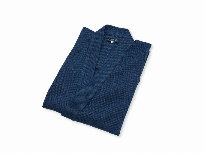本藍染刺子織作務衣 日本製