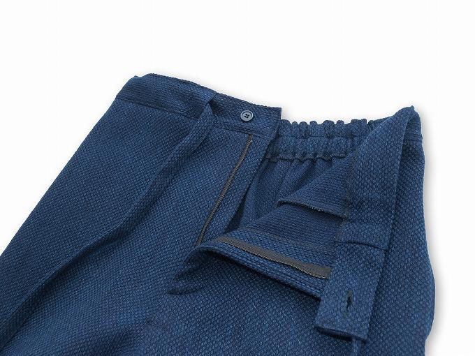 【日本製】 本藍染刺子織作務衣 【和粋庵】 ズボン