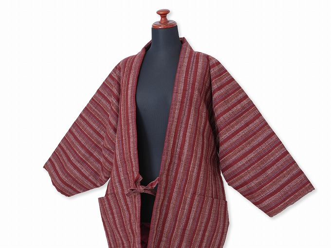 和紡ぎ女性綿入袢天 着用イメージ