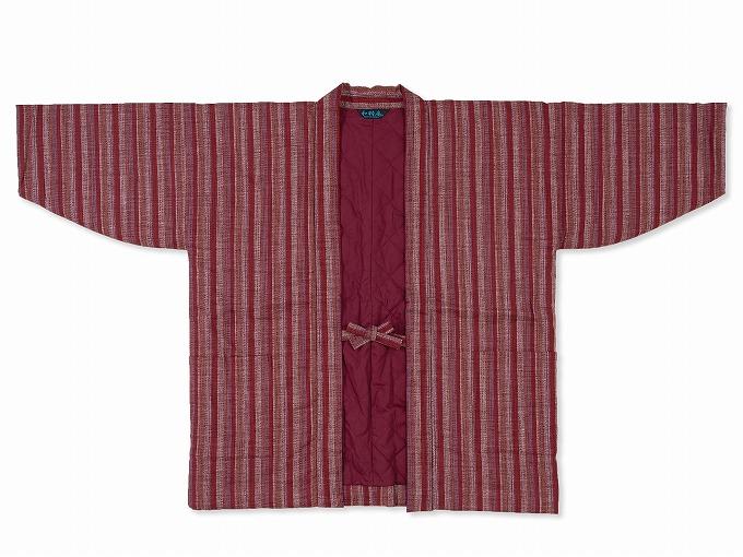和紡ぎ女性綿入袢天 表