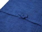 刺子織作務衣式綿入れ袢天 生地拡大