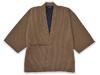 刺子織作務衣式袢天 茶色