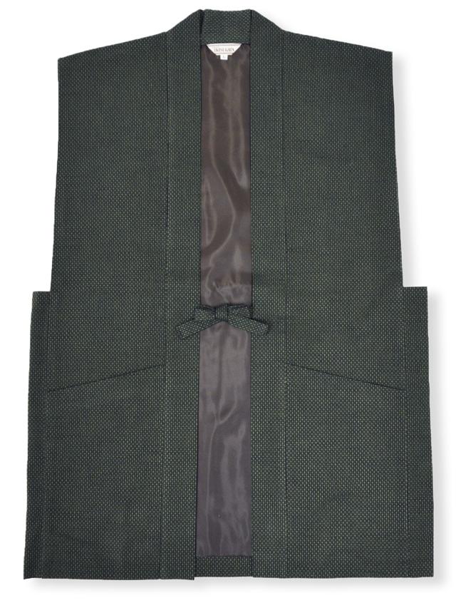 刺子大柄ドビー羽織 グリーン
