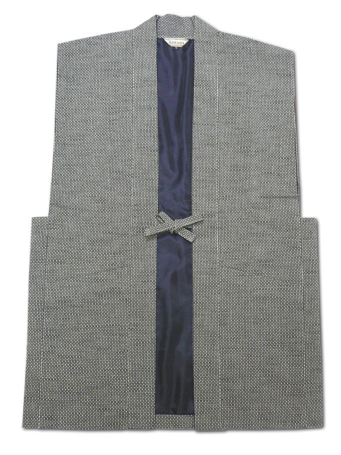 大柄ドビー刺子羽織 グレー