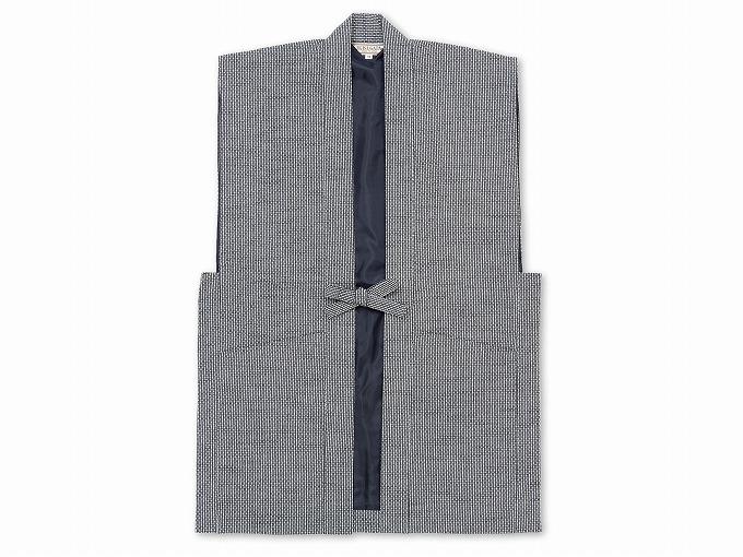 日本製大柄ドビー刺子・作務衣用羽織グレー