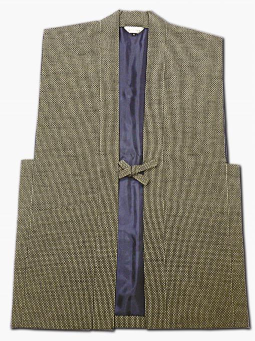 刺子大柄ドビー羽織 茶
